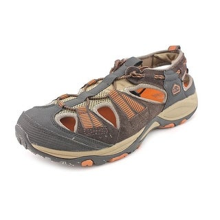 Pacific Trail Chaski Men Round Toe Leather Brown Sport Sandal