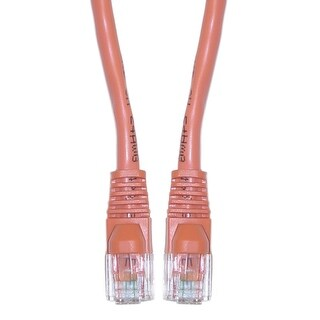 Offex Cat5e Orange Ethernet Crossover Cable, Snagless/Molded Boot, 3 foot