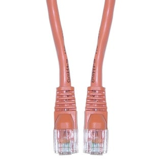 Offex Cat5e Orange Ethernet Crossover Cable, Snagless/Molded Boot, 5 foot