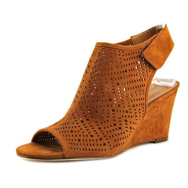 Style & Co Heatherr Women Open Toe Synthetic Brown Wedge Sandal
