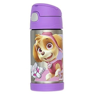 Thermos FUNtainer Paw Patrol Bottle With Straw, Lilac, 12 Ounces