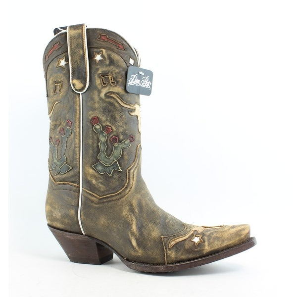 00dd3821f34 Dan Post Womens Cowboy, Western Boots Size 9