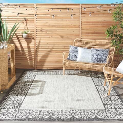 Nourison Garden Party Bordered Indoor/Outdoor Area Rug