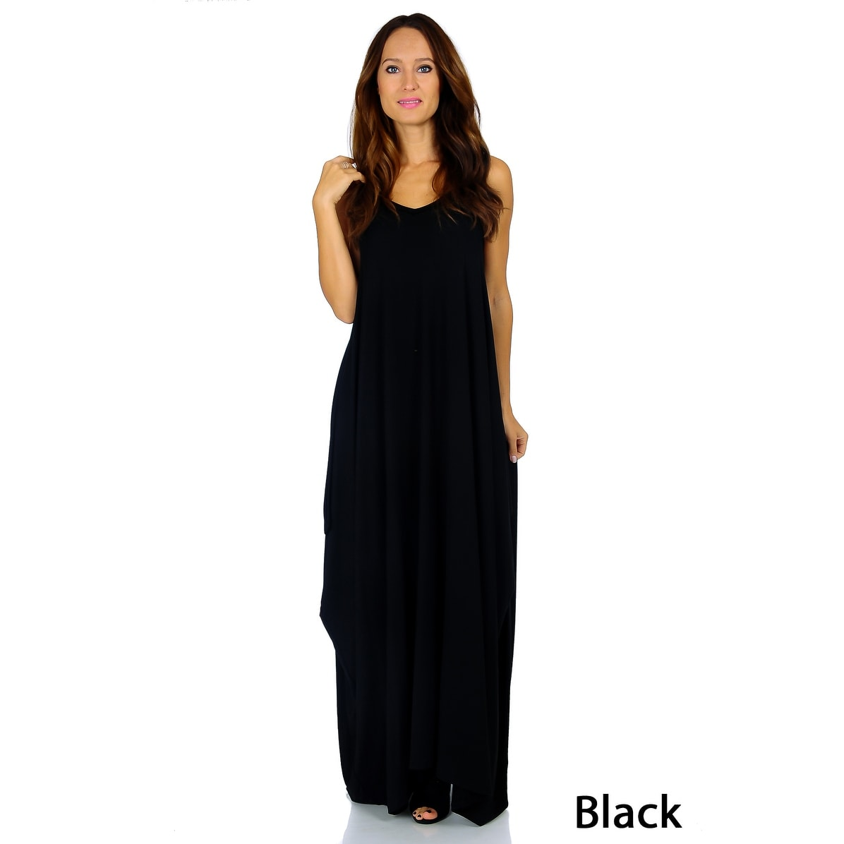 Simply Ravishing Women's Maxi Boho Harem Spaghetti Strap Dress (Size: Small - 3X) - Thumbnail 5