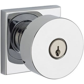 Baldwin EN.CON.CSR Modern Single Cylinder Keyed Entry Door Knob Set with Modern Square Trim from the Reserve Collection