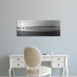 Easy Art Prints Panoramic Images's 'Surfer, San Diego, California, USA' Premium Canvas Art