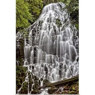 """Beautiful waterfall."" Poster Print"
