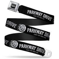 Parkway Drive Full Color Black Gray White Parkway Drive Fight For Your Life Seatbelt Belt