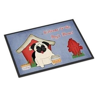 Carolines Treasures BB2758MAT Dog House Collection Pug Cream Indoor or Outdoor Mat 18 x 0.25 x 27 in.