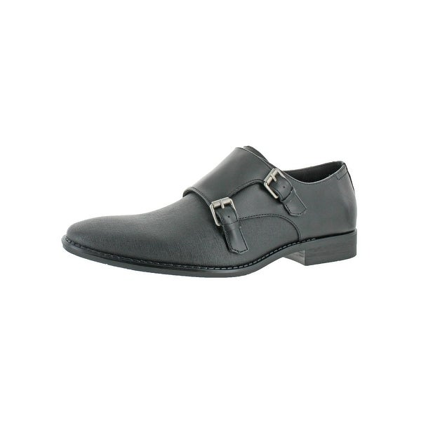 Calvin Klein Mens Reeve Monk Shoes Leather Dress