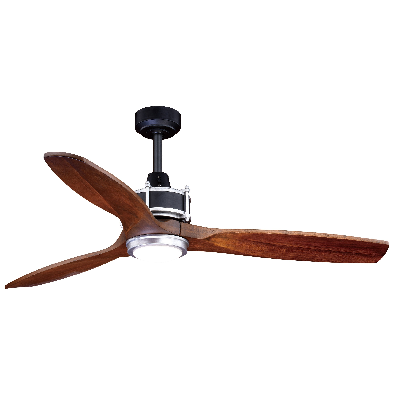 Shop Curtiss 3 Speed 52 Inch Black Outdoor Ceiling Fan 52 In W X 21 75 In H X 52 In D Overstock 22694238