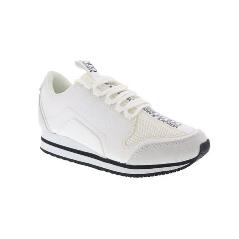 Versace Jeans Couture White Signature Heel Sneakers