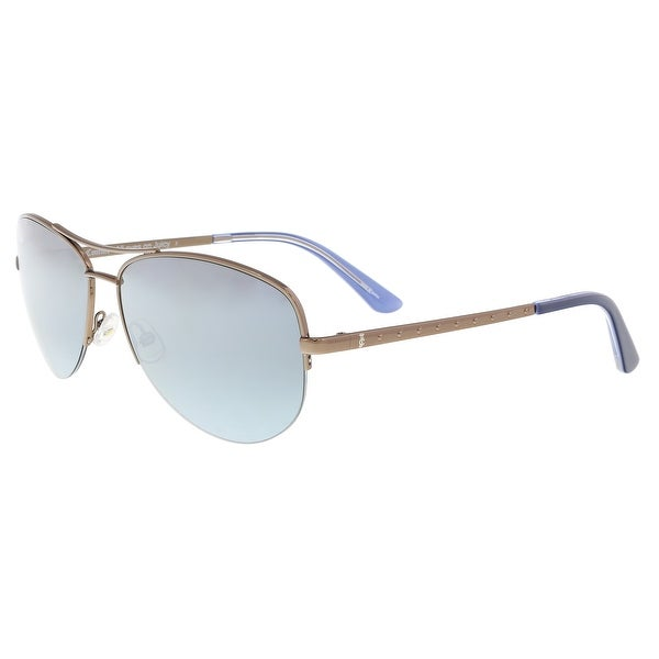 93b90f9e39 Shop Juicy Couture JU 594 S 009Q GO Brown Aviator Sunglasses - 60-15 ...