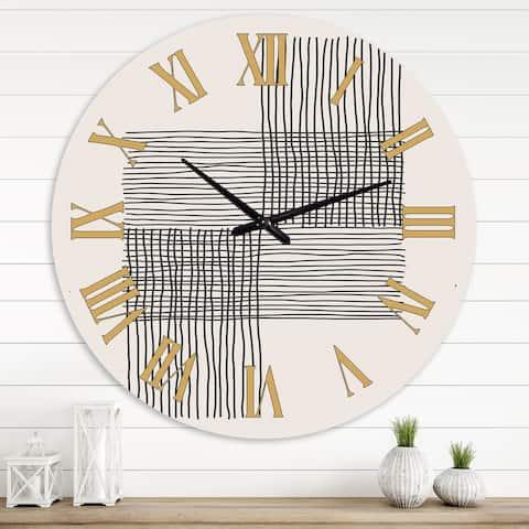 Designart 'Minimal Geometric Compostions of Elementary Forms XIX' Modern wall clock