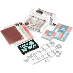 White W/Gray - Sizzix Big Shot Plus Starter Kit (Us Version)