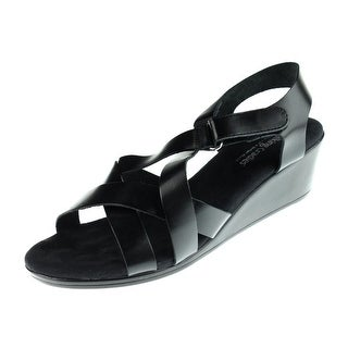 Walking Cradles Womens Newton Leather Strappy Wedges