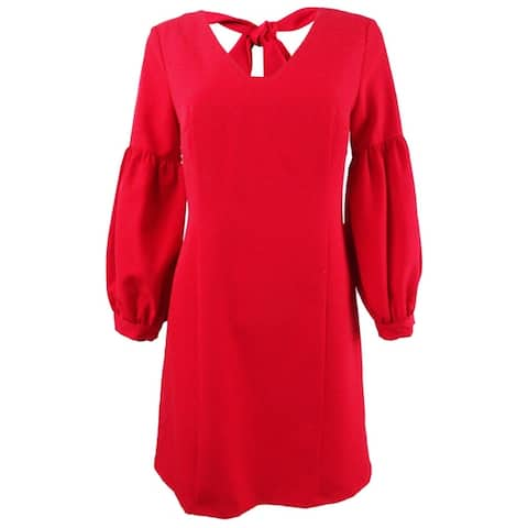 Laundry by Shelli Segal Women's Puff-Sleeve Sheath Dress - Red