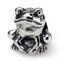 Sterling Silver Reflections Kids Frog Bead (4mm Diameter Hole) - Thumbnail 0