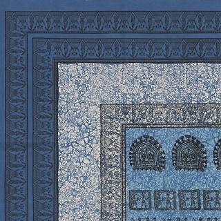 Handmade 100% Tribal Print Tapestry Throw Tablecloth Coverlet Wall Decor Artistic Blue Full