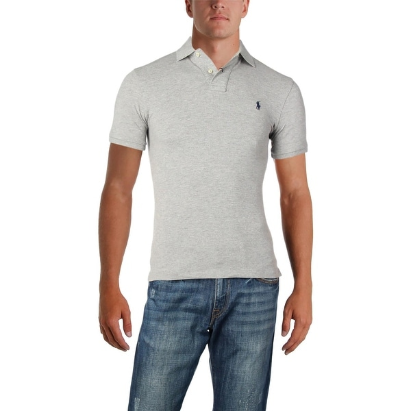 312bf1986e437c Shop Polo Ralph Lauren Mens Polo Shirt Heathered Mesh - Free Shipping On  Orders Over  45 - Overstock - 26441812