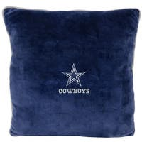 NFL Dallas Cowboys Licensed Pillow. Comfortable, Soft-Plush Top-Quality for Pets, Kids, Sofa