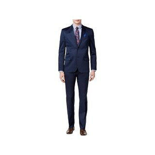 Ben Sherman Mens Digby Two-Button Suit Slim Fit Notch Collar - 38r