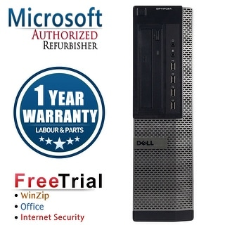 Refurbished Dell OptiPlex 790 Desktop Intel Core I3 2100 3.1G 4G DDR3 250G DVD Win 7 Pro 64 Bits 1 Year Warranty - Black