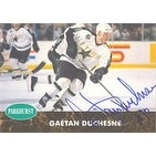 Gaetan Duchesne Minnesota North Stars 1992 Parkhurst Autographed Card This item comes with a certificate of authentic