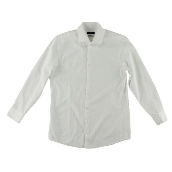 BOSS Hugo Boss Mens Dress Shirt Cotton Checkered