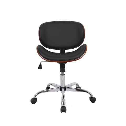 WOVENBYRD Modern Curved Back Office Chair - N/A