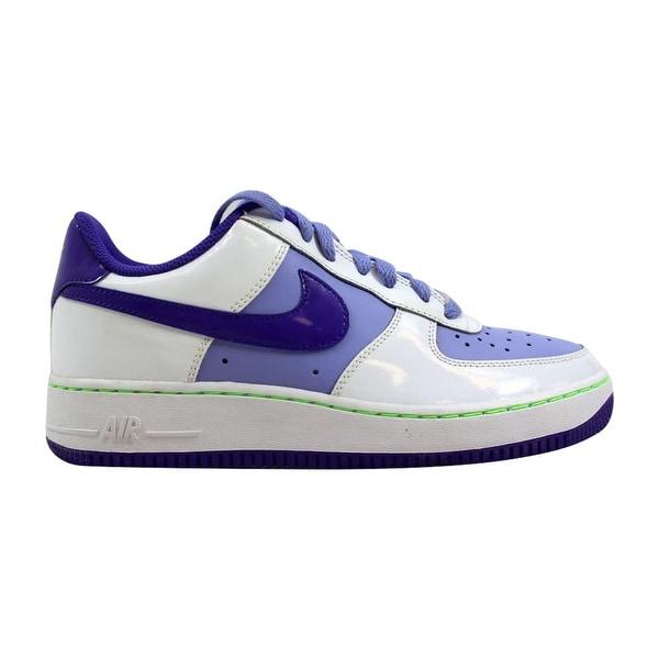 new concept acba0 30683 Nike Air Force 1 White Pure Purple-Green 314219-109 Grade-School