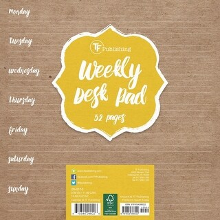White Kraft Weekly Deskpad, Desk Pads by TF Publishing
