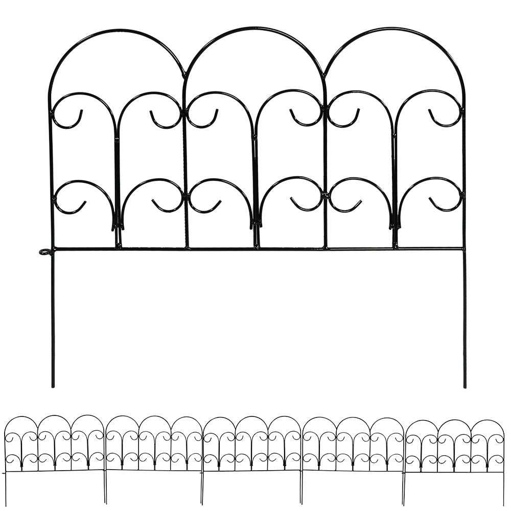 Sunnydaze Border Fence Panels, Set of 5 - Style Options Available - Thumbnail 0