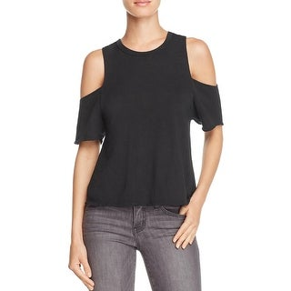 Free People Womens Taurus T-Shirt Cold Shoulder Casual