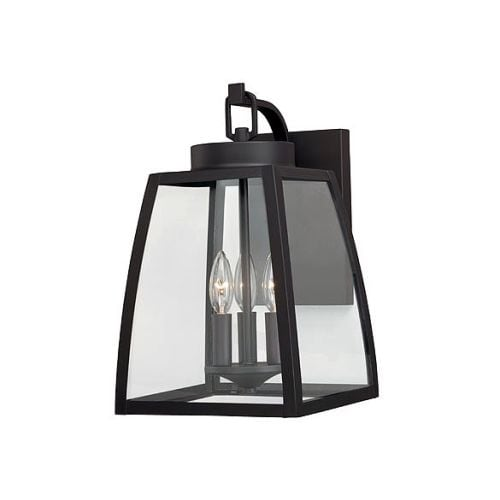 Vaxcel Lighting T0208 Granville 3 Light Outdoor Wall Sconce with Clear Glass Shade