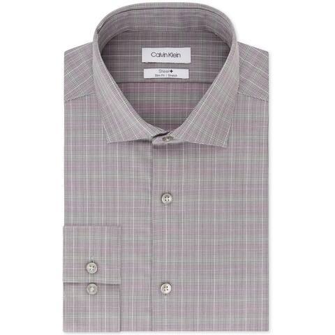 Calvin Klein Mens Non-Iron Button Up Dress Shirt