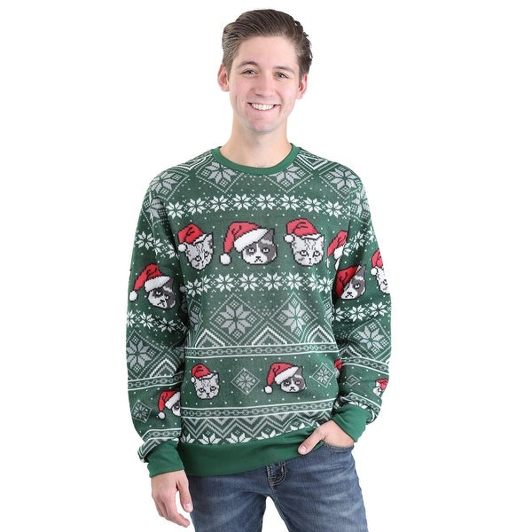 holiday catz adult ugly christmas sweater - Adult Ugly Christmas Sweater