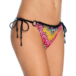 Trina Turk Womens Printed Side Tie Swim Bottom Separates