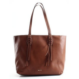 Nine West NEW Brown Tobacco Faux Leather Canyon Medium Tote Bag Purse