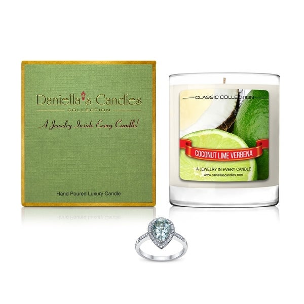 Daniella's Candles Coconut Lime Verbena Jewelry Candle, Ring Size 9