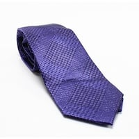 57e273b48312 Michael Kors Purple Glenn Plaid Patterend Men's Silk Woven Neck Tie. Sale