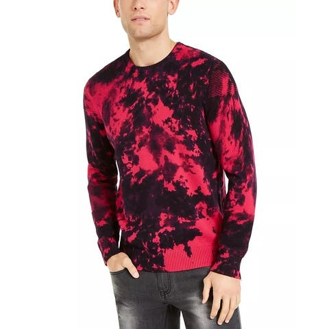 INC International Concepts Men's Gnover Tie Dye Sweater Pink Size L - Large