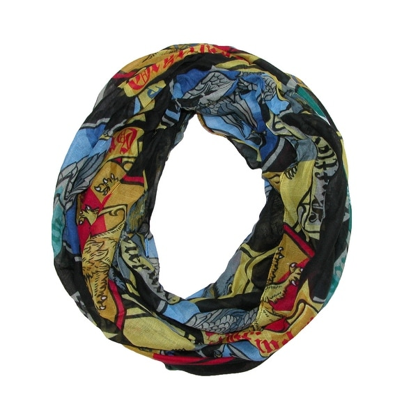 BioWorld Women's Harry Potter Crests Infinity Loop Scarf - One size