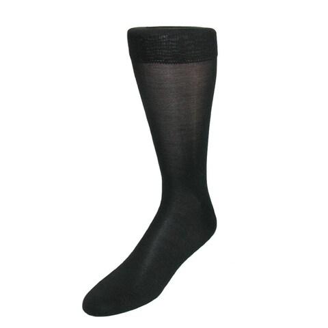 Windsor Collection Men's Silk Mid Calf Dress Socks (Pack of 6)