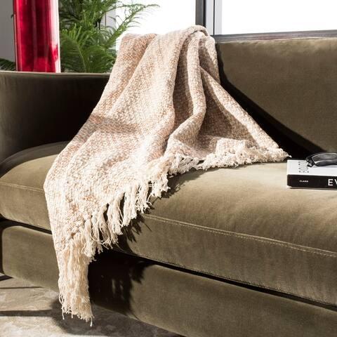 Safavieh Becks Cotton Fringe Throw Blanket