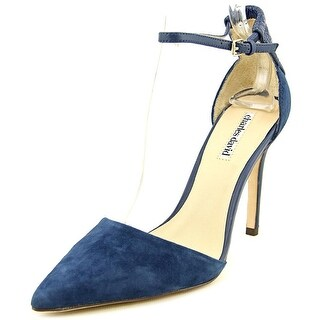 Charles David Gillian Women Pointed Toe Suede Blue Heels