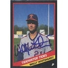 Wally Whitehurst Tidewater Tides Mets Affiliate 1988 CMC Autographed Card Minor League Card This item comes with