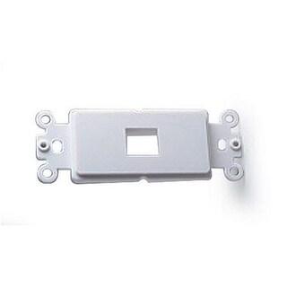 Datacomm Electronics Decor Plate Insert for 1 Keystone, White