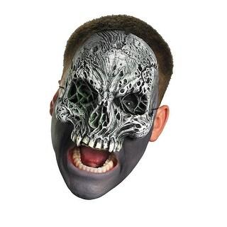 Chinless Dark Skull Costume Mask - Silver