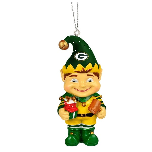 Green Bay Packers 2014 Resin Elf Ornament